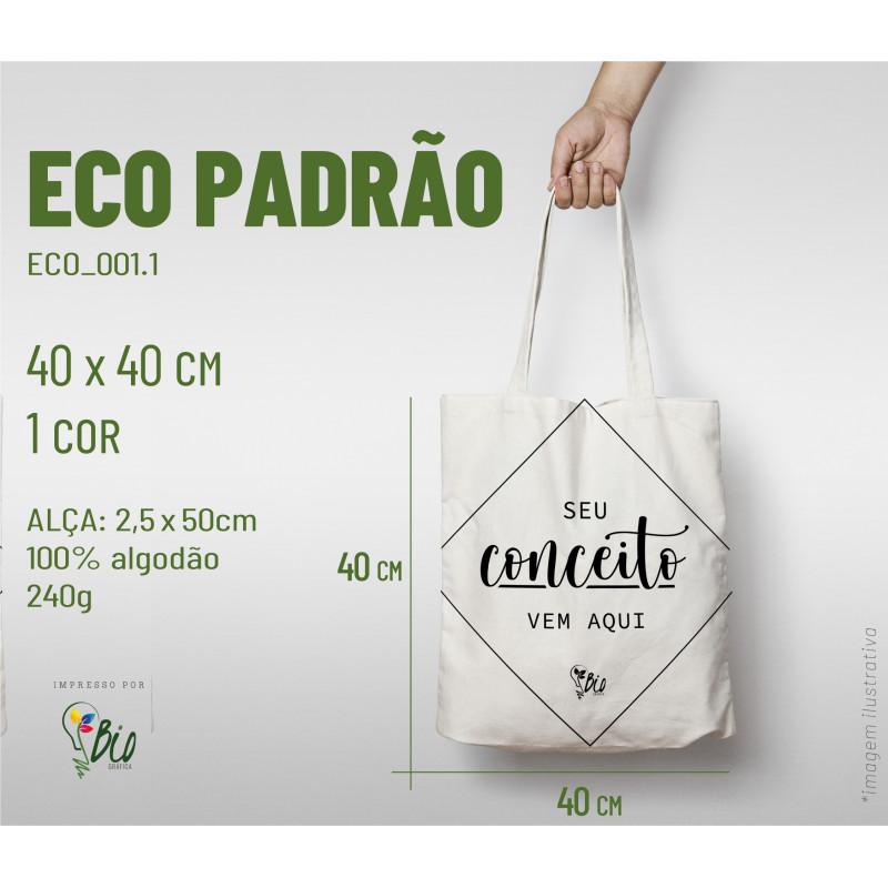 Ecobag Padrão 40x40, 1 cor