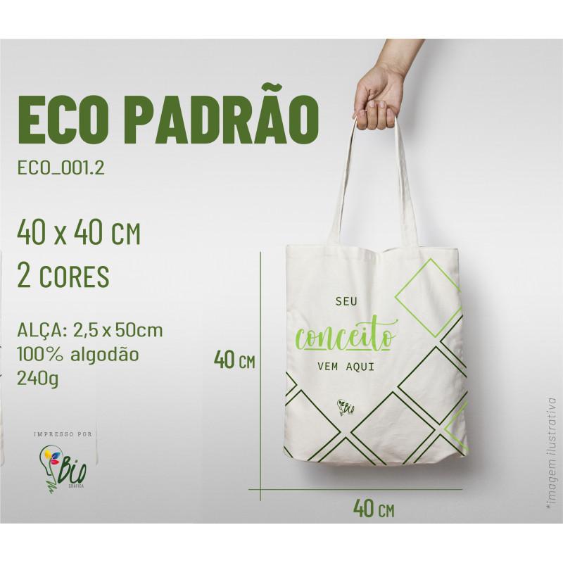 Ecobag Padrão 40x40, 2 cores