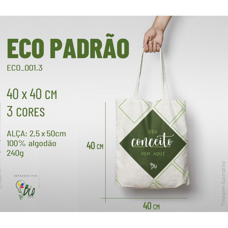 Ecobag Padrão 40x40, 3 cores