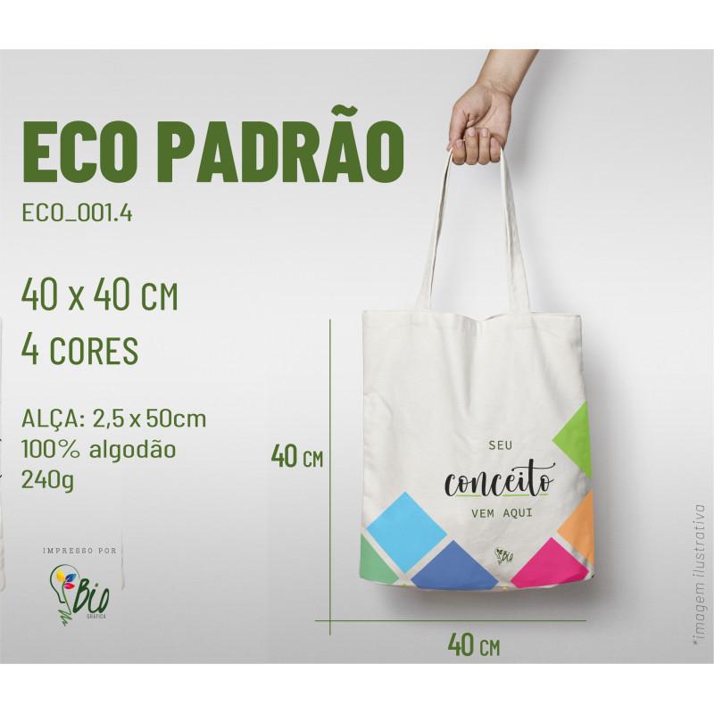 Ecobag Padrão 40x40, 4 cores