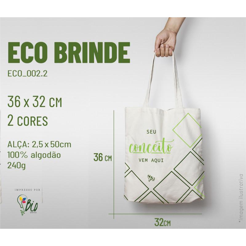 Ecobag Brinde 32x36, 2 cores