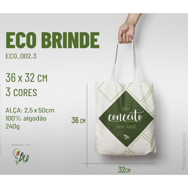 Ecobag Brinde 32x36, 3 cores