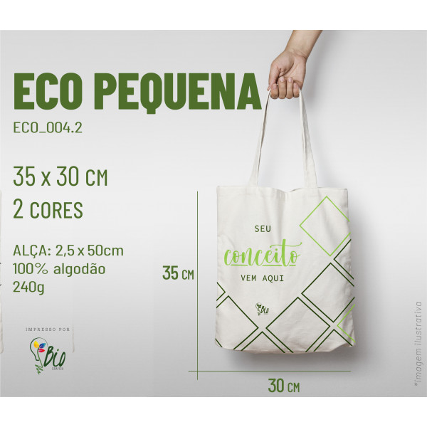 Ecobag Pequena 30x35, 2 cores