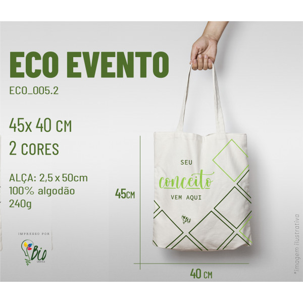 Ecobag Evento 40x45, 2 cores