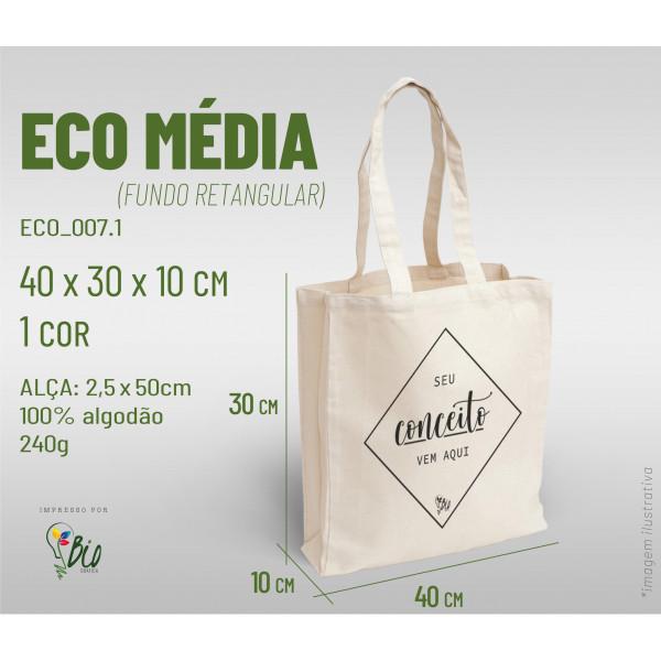 Ecobag Média 40x30x10, 1 cor