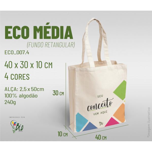 Ecobag Média 40x30x10, 4 cores