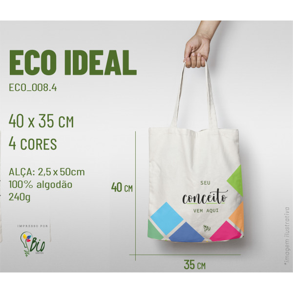 Ecobag Ideal 35x40, 4 cores