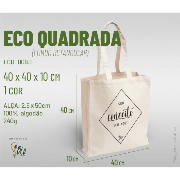 Ecobag Quadrada 40x40x10, 1 cor