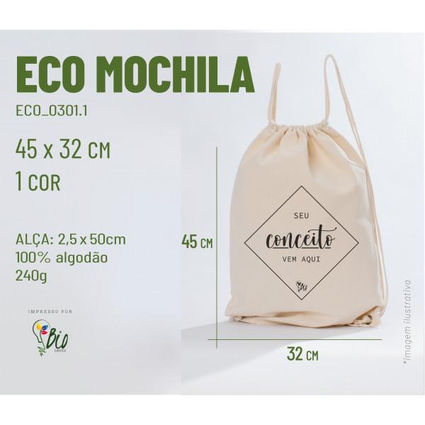 Ecobag Mochila 32x45, 1 cor