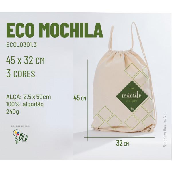 Ecobag Mochila 32x45, 3 cores