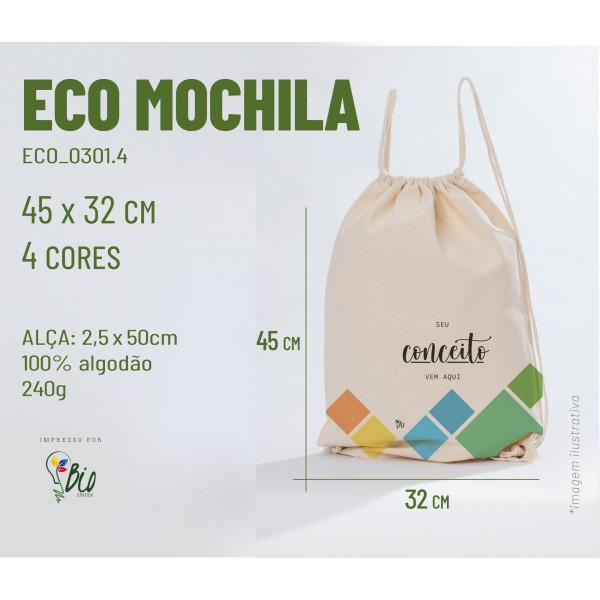 Ecobag Mochila 32x45, 4 cores