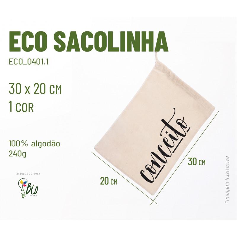 Ecobag Sacolinha 20x30, 1 cor