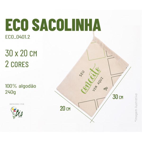 Ecobag Sacolinha 20x30, 2 cores