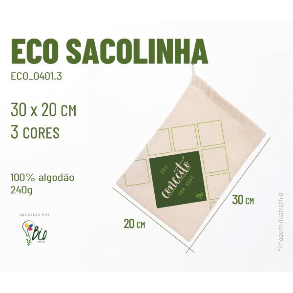 Ecobag Sacolinha 20x30, 3 cores
