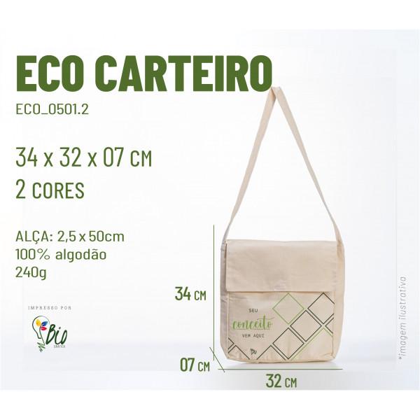 Ecobag Carteiro 32x34x07, 2 cores
