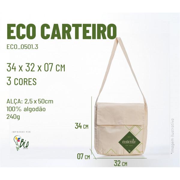 Ecobag Carteiro 32x34x07, 3 cores