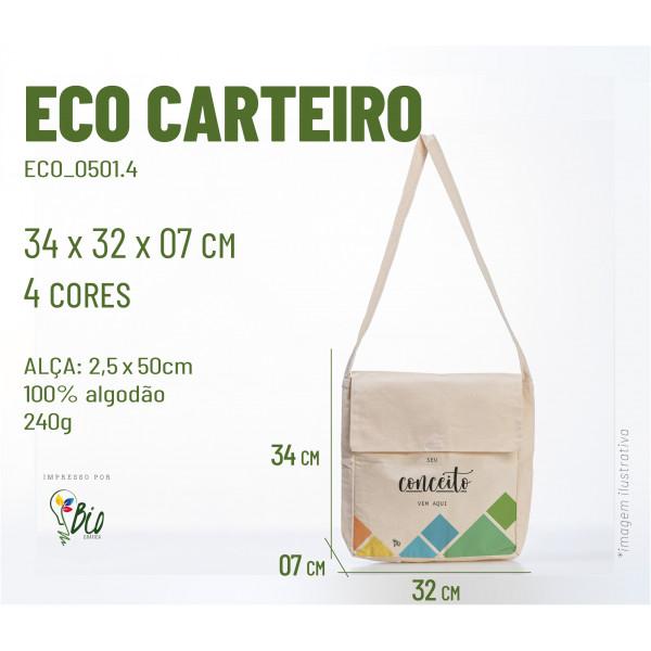 Ecobag Carteiro 32x34x07, 4 cores