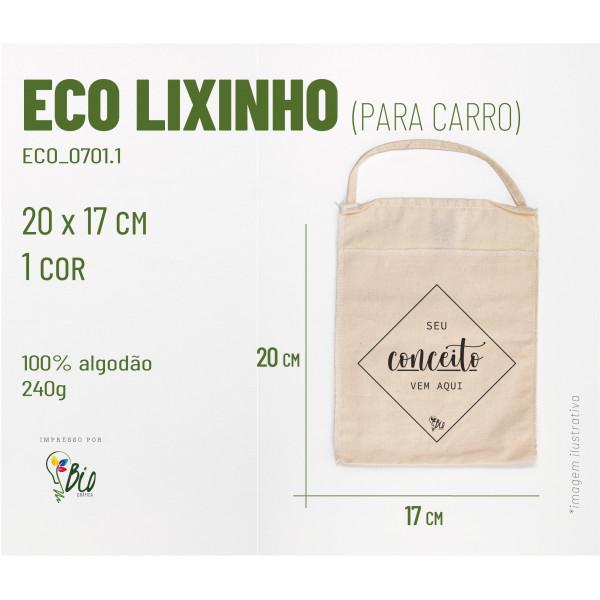Ecobag Lixinho Carro 17x20, 2 cores