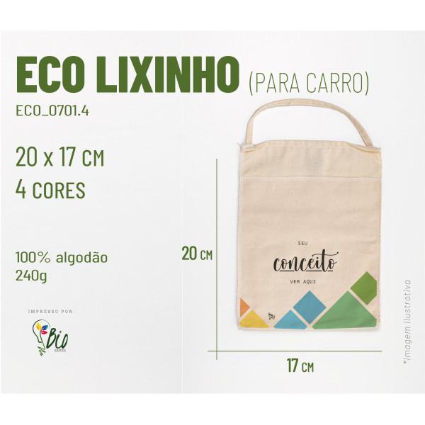 Ecobag Lixinho Carro 17x20, 4 cores