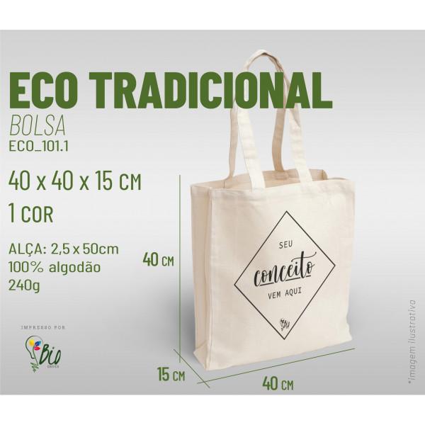 Ecobag Tradicional 40x40x15, 1 cor
