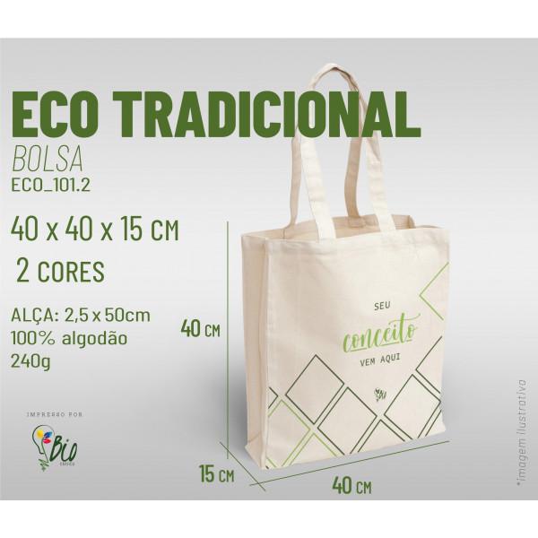 Ecobag Tradicional 40x40x15, 2 cores