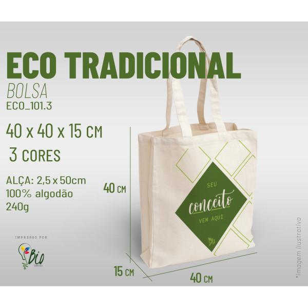 Ecobag Tradicional 40x40x15, 3 cores