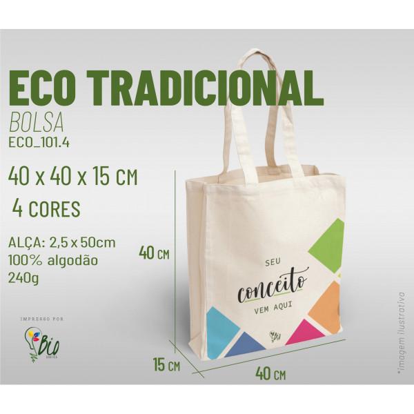 Ecobag Tradicional 40x40x15, 4 cores