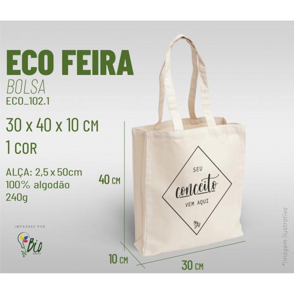 Ecobag Feira 30x40x10, 1 cor
