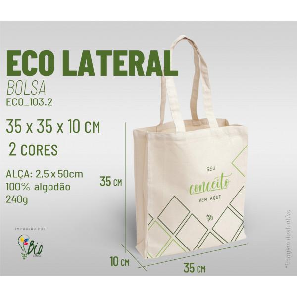 Ecobag Lateral 35x35x10, 2 cores