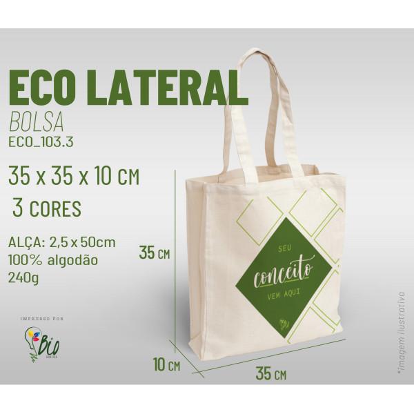 Ecobag Lateral 35x35x10, 3 cores