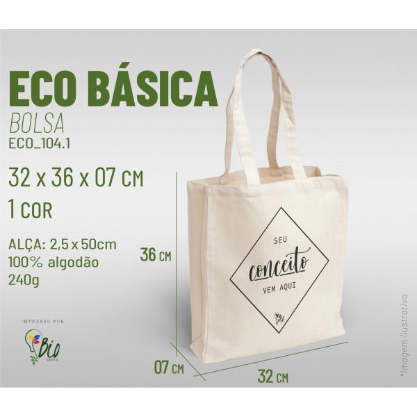 Ecobag Básica 32x36x07, 1 cor