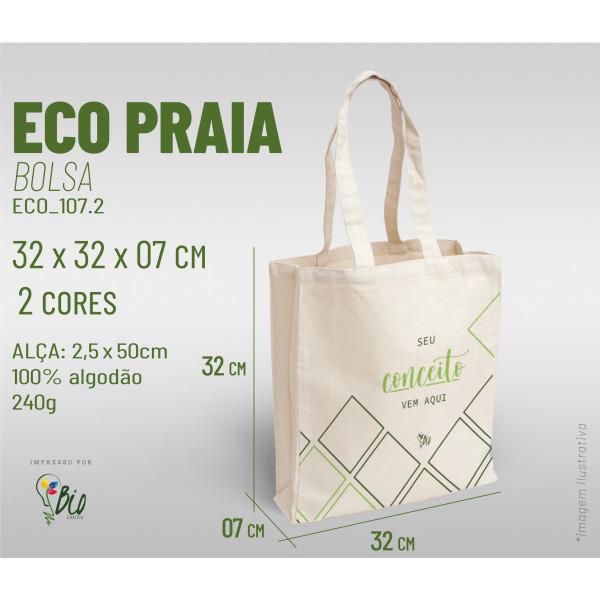 Ecobag Praia 32x32x07, 2 cores