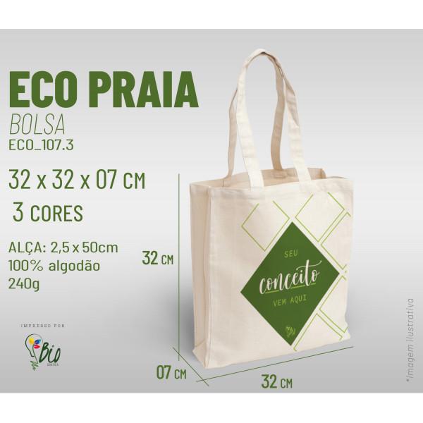 Ecobag Praia 32x32x07, 3 cores