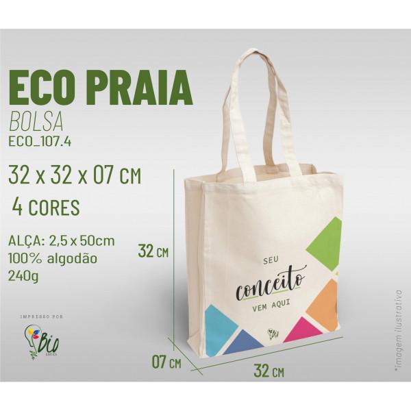 Ecobag Praia 32x32x07, 4 cores