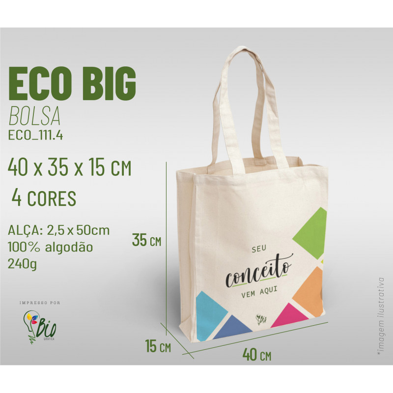 Ecobag Big 40x35x15, 4 cores
