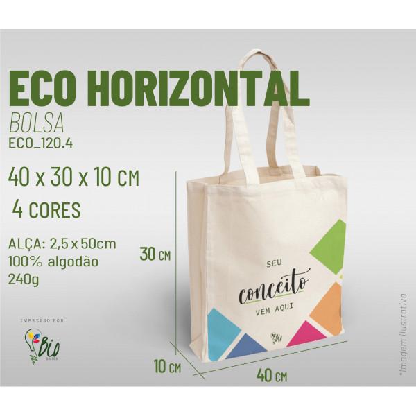 Ecobag Horizontal 40x30x10, 4 cores