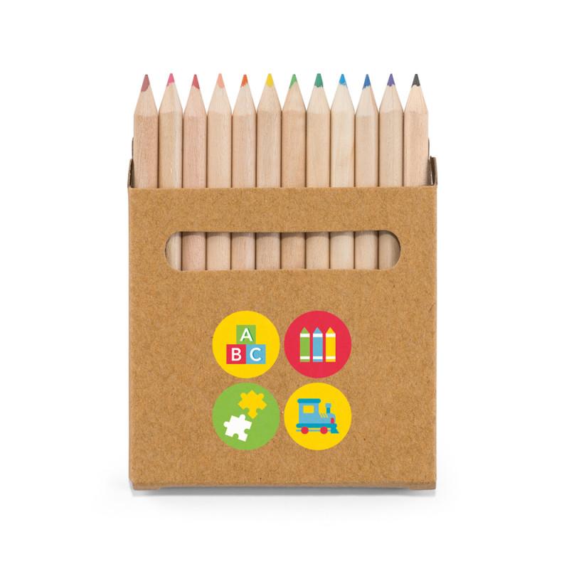 Caixa Lápis de Cor mini com 12 cores