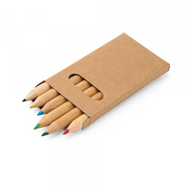 Caixa Lápis de Cor com 6 cores