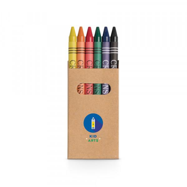 Caixa Giz de Cera com 6 cores
