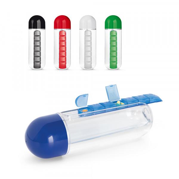 Squeeze Transparente com Compartimento de Comprimidos