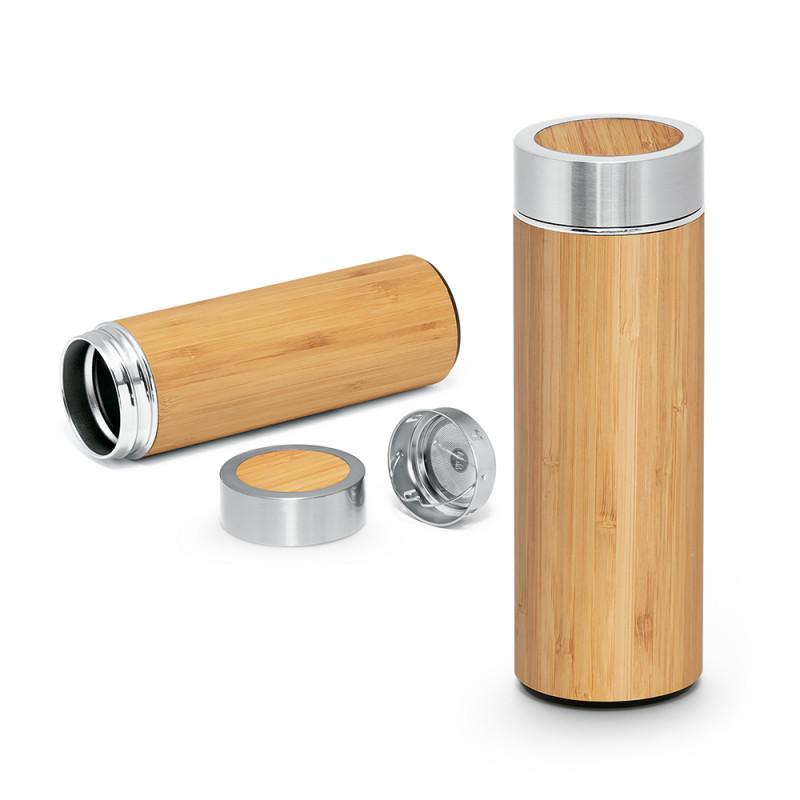 Squeeze Térmico em Bambu com Infusor para Chá