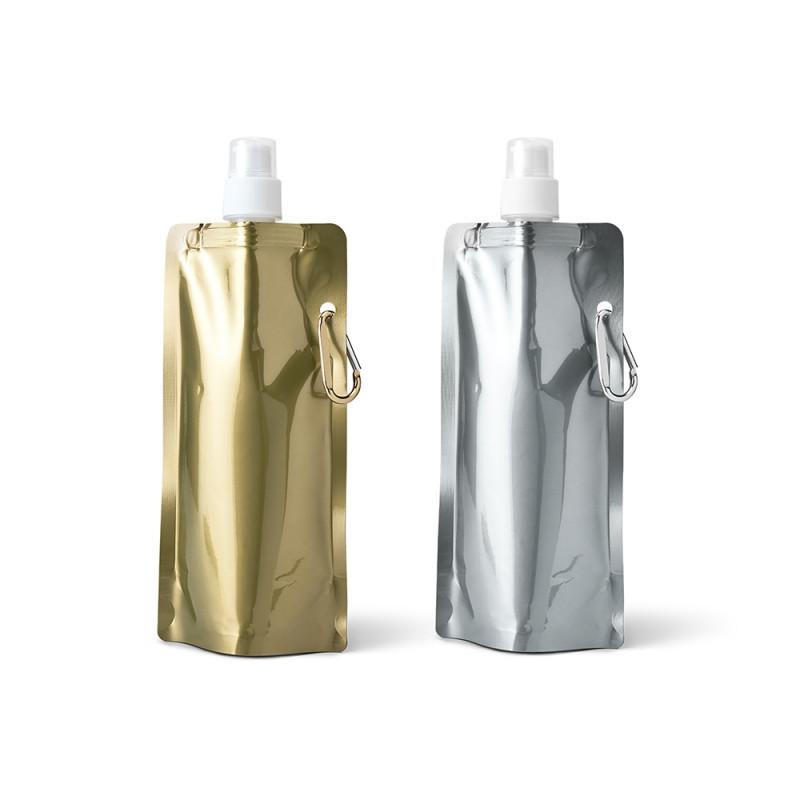 Squeeze Dobrável Ouro e Prata com Mosquetão