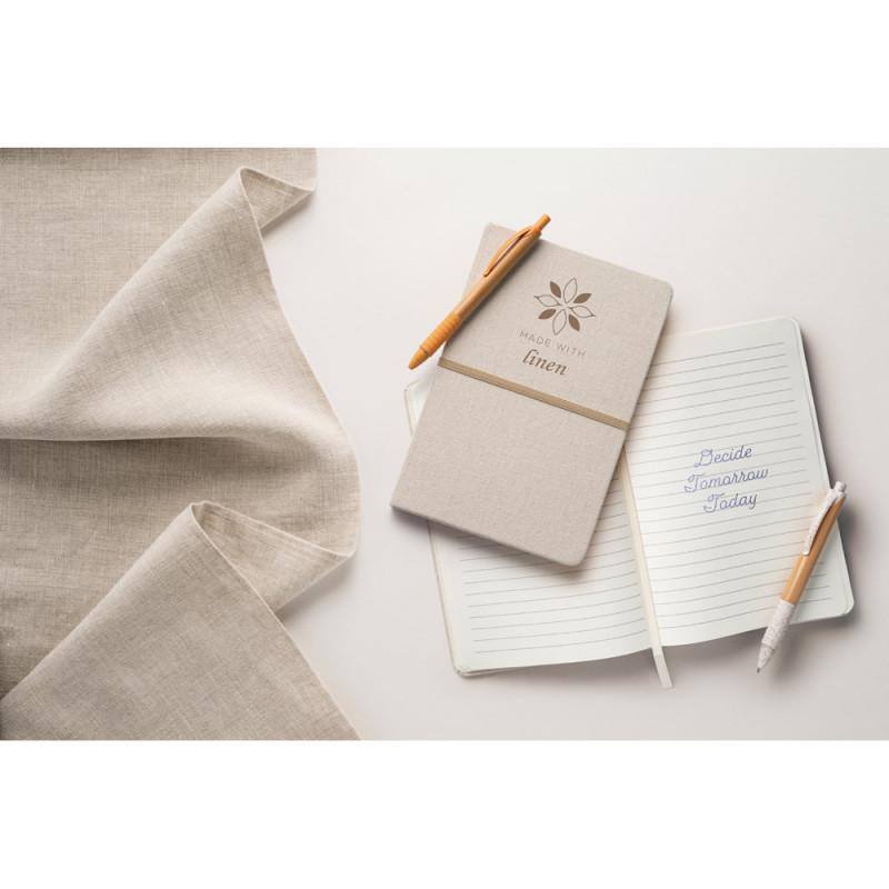 Caderno Ecológico com Capa em Linho