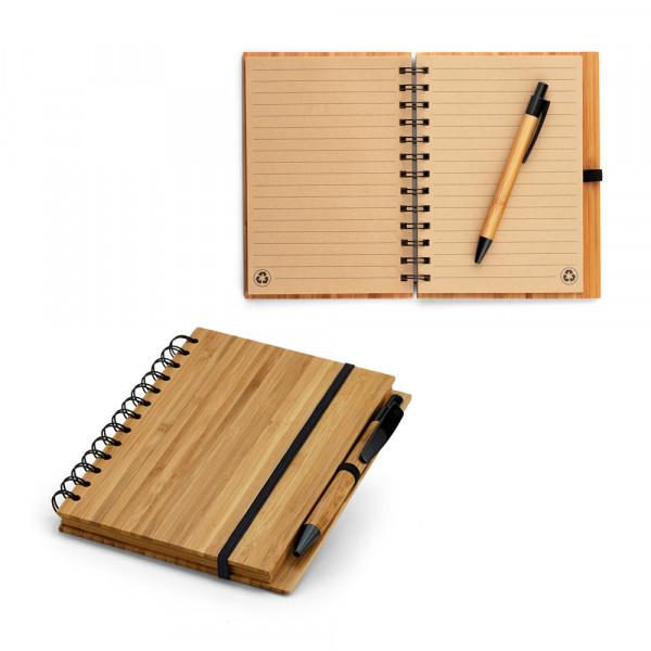 Caderno Ecológico com Capa em Bambu