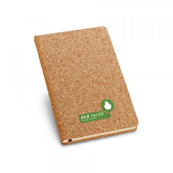 Caderno Ecológico com Capa em Cortiça