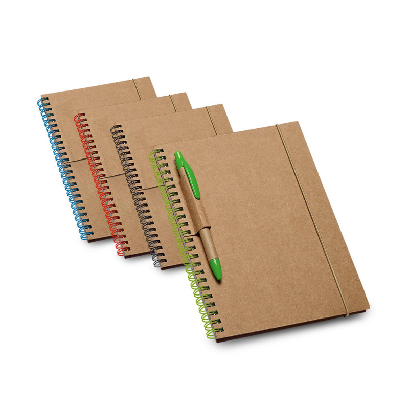 Caderno Ecológico com Suporte para Caneta em Papel