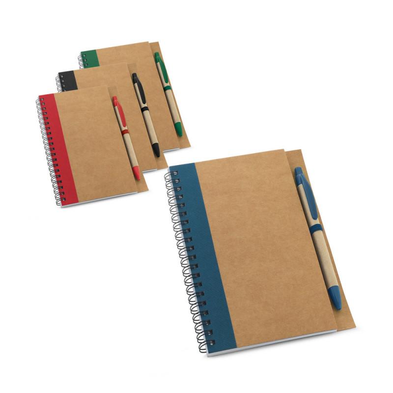 Caderno Ecológico com Base e Elástico para Caneta