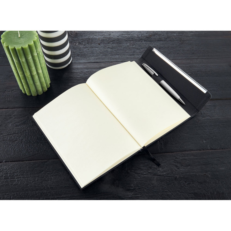 Caderno Funcional Com Imã Capa em Couro Sintético