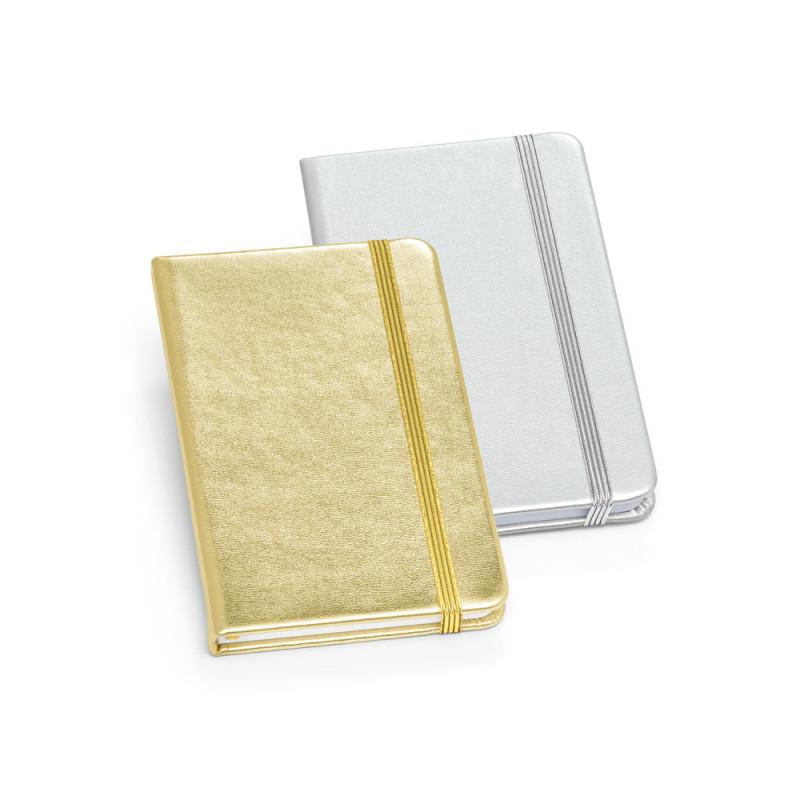 Moleskine Ouro e Prata Miolo Branco