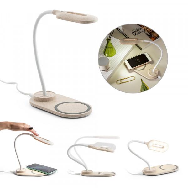 Luminária de Mesa com Carregador Wireless